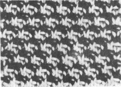 двухцветный узор типа ткани