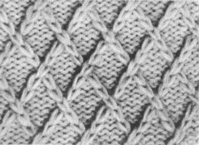 сетка из вытянутых лицевых петель