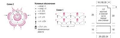 Схема Топ с цветочной полосой