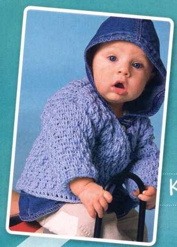 Жакет, пуловер, шапочка и пинетки