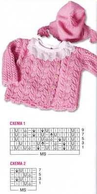 Розовый жакет и шапочка