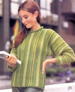 Пуловер в полоску - просто и всегда в моде