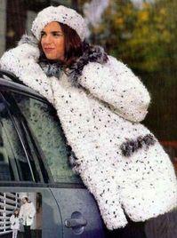 вязание крючком, куртка, пальто