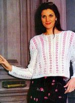 Белоснежный ажур - пуловер