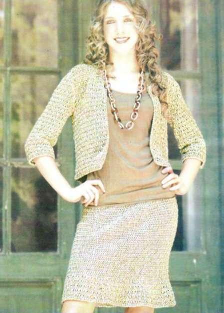 Комплект жакет и юбка: Двойной эффект