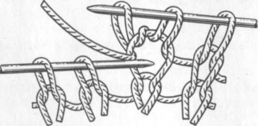 Вывязывание двух петель из одной