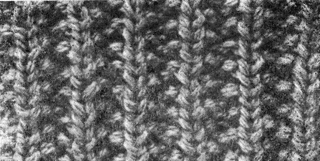 вязание спицами французская резинка.