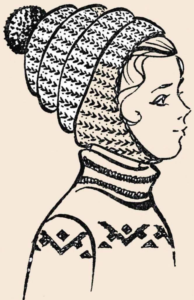 Вязание на спицах шапки английская резинка.