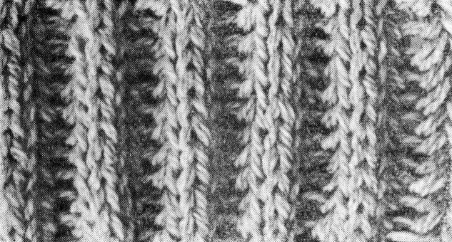 вяжем шарф английской резинкой.