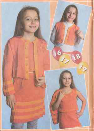 Костюм: жакет, юбка, топ и жилет