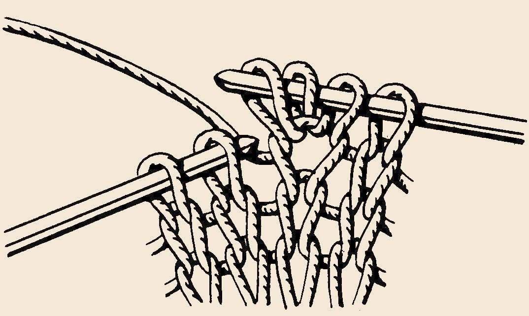 Вязание в 3 петли