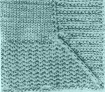 Планка, вывязанная раньше полочки