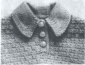 Пришивной воротник с острыми уголками