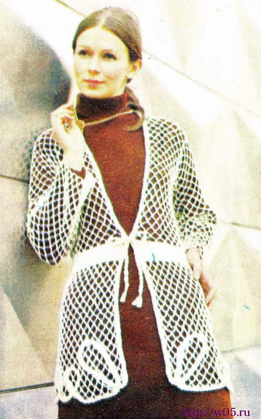 Вязание кардиган сетка