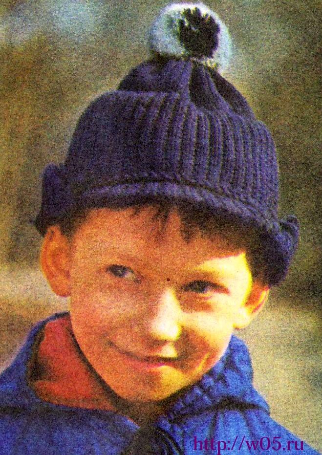 Вязание на спицах шапка с козырьком схема.