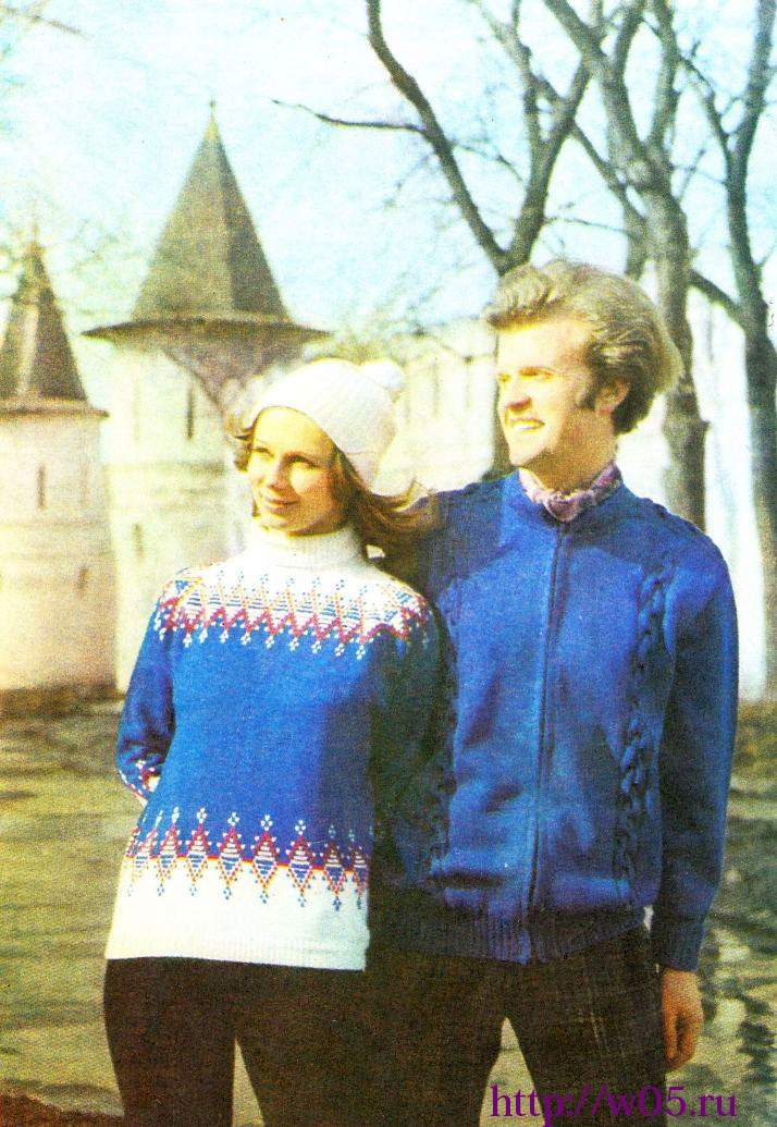 Вязаные свитера спицами женские 95
