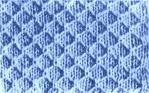 Узор плотного вязания