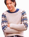 Пуловер с жаккардовыми рукавами