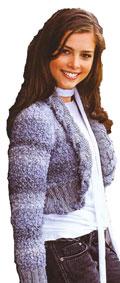 Жакет болеро с широкими планками