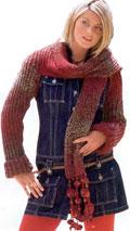 Болеро с пришитым шарфом