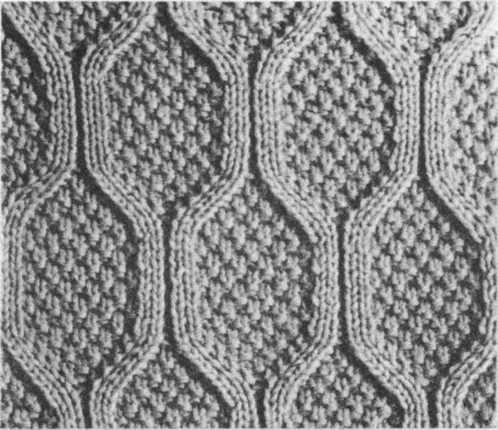 узоры для мужского шарфа лицевыми и изнаночными.