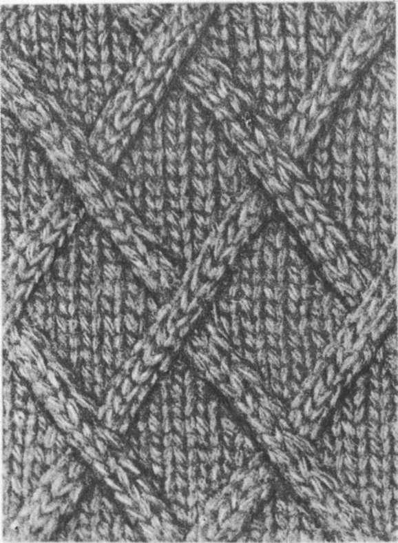 схемы вязание узоров ромбов спицами