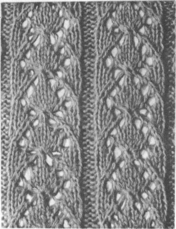 вязание накид 2 вместе