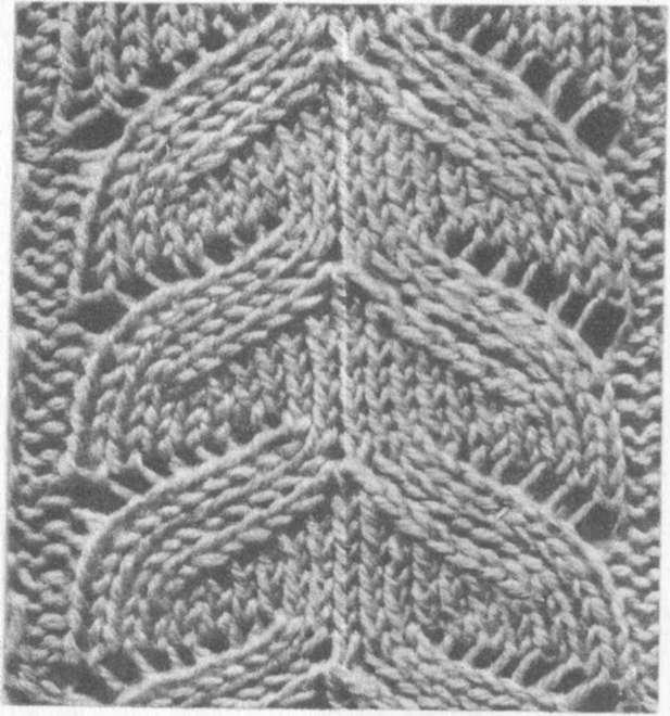 узоры ажурного вязания волнами