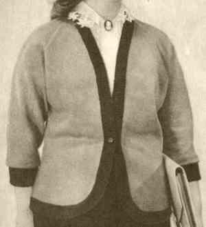Полуприлегающий жакет с рукавами реглан