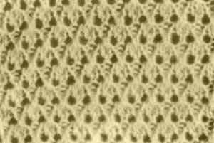 Узор ажурного вязания