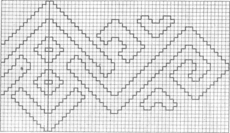 схема вязания кофты со спущенным
