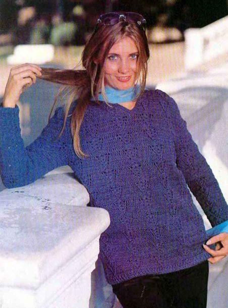 Солирует синий (пуловер)