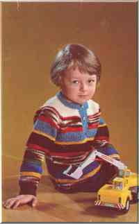 Детский свитер-реглан